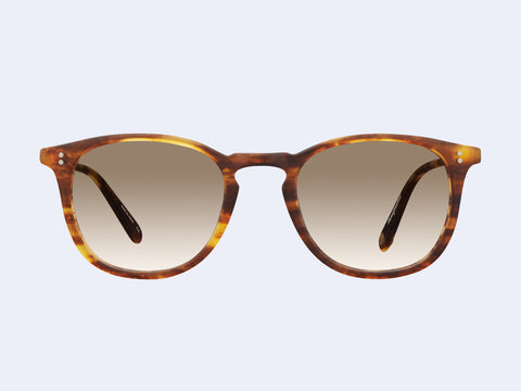 Garrett Leight Kinney Sun (Matte Pinewood with Semi-Flat Brown Gradient Lens)