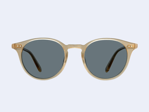 Garrett Leight Clune Sun (Blonde with Semi-Flat Blue Smoke Lens)