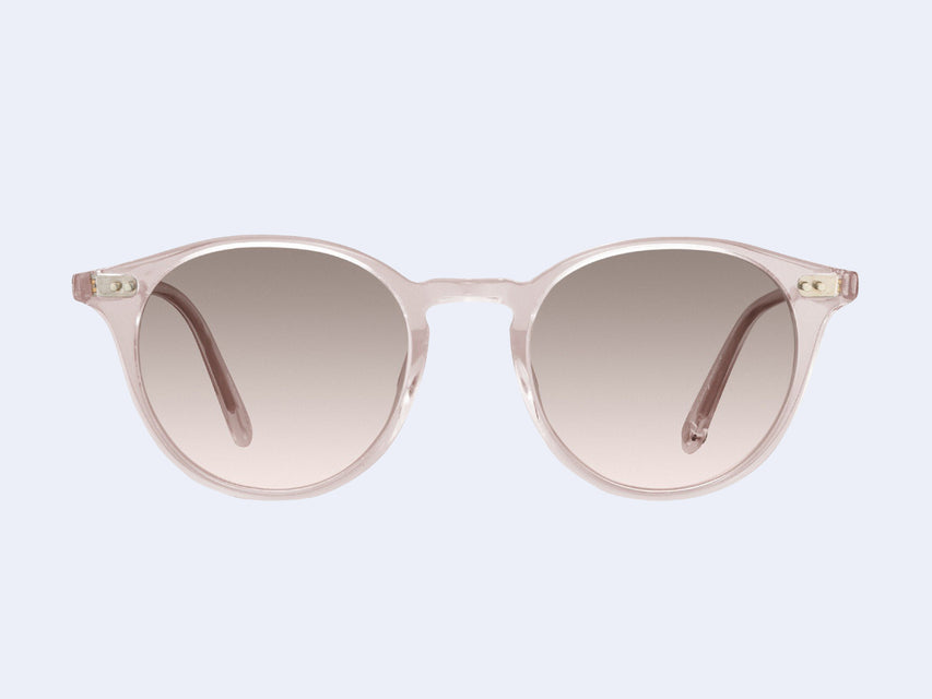 Garrett Leight Clune Sun (Nude with Semi-Flat Pink Haze Mirror Lens)