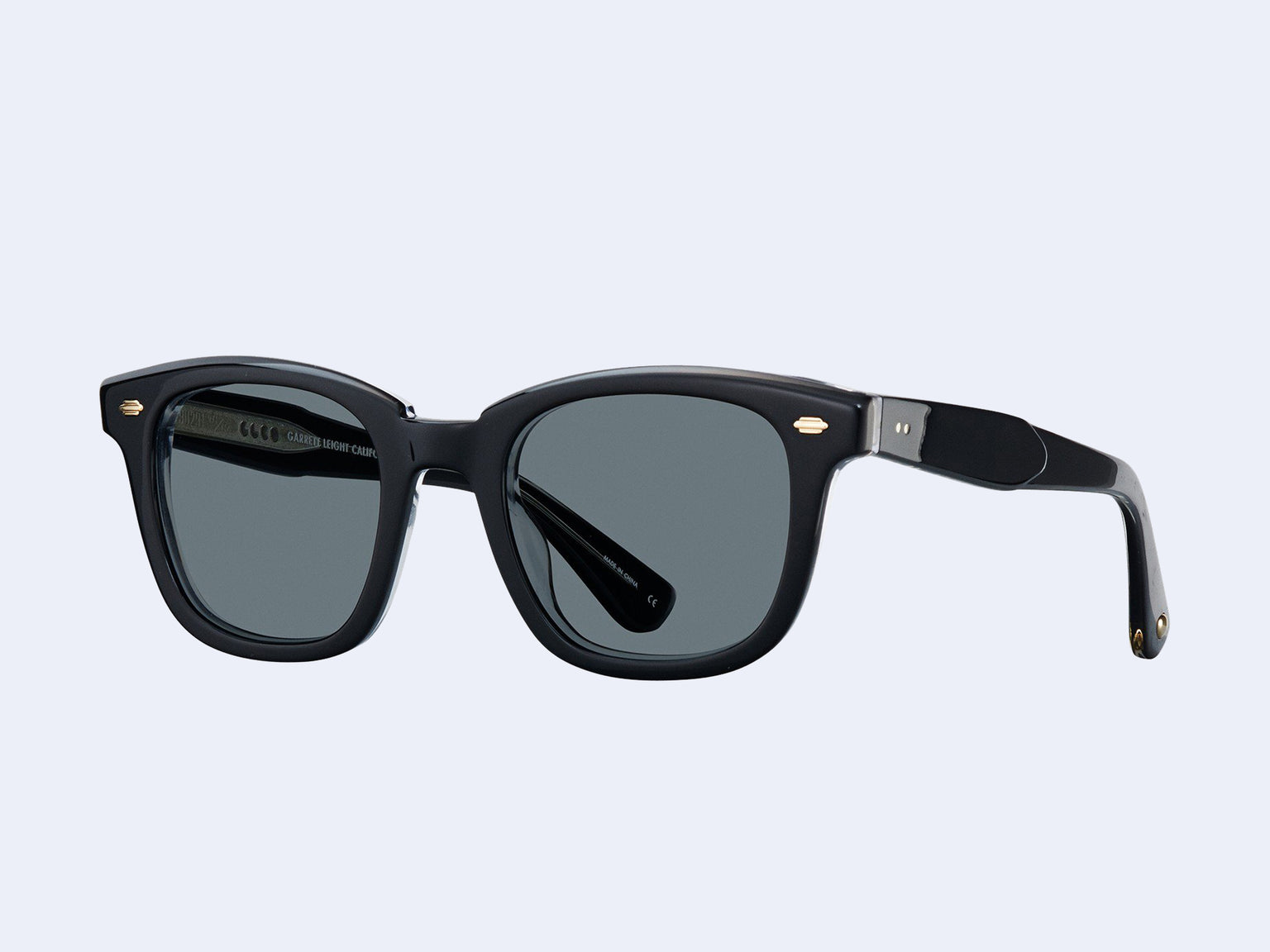 Garrett Leight Calabar (Black Laminate Crystal with Semi-Flat Bluesmoke Lens)