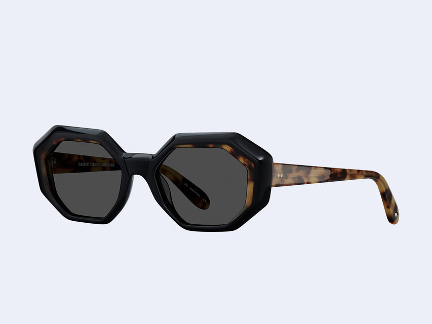 Garrett Leight Jacqueline (Black-Dark Tortoise with Semi-Flat Black Lens)
