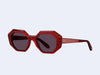 Garrett Leight Jacqueline (Cherry with Semi-Flat Purple Lens)