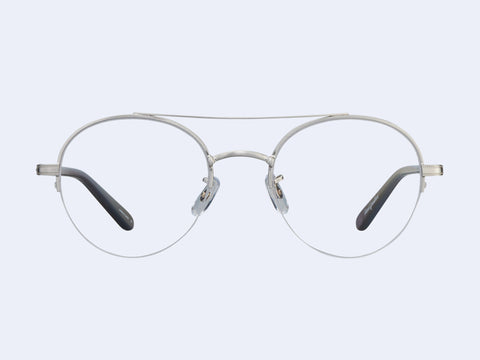Garrett Leight Manchester (Brushed Silver-Grey Crystal)