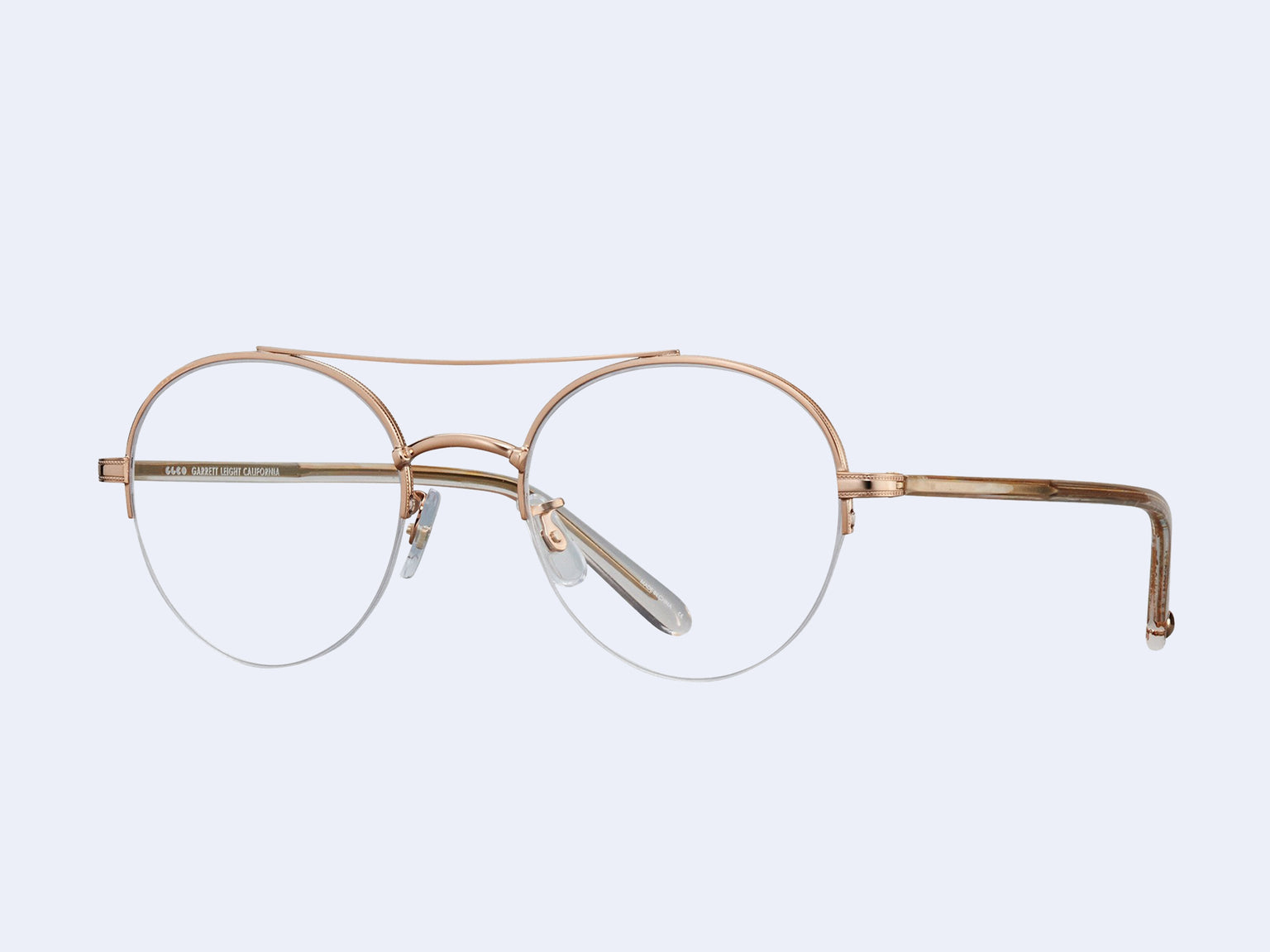 Garrett Leight Manchester (Rose Gold-Nude)