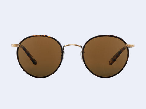 Garrett Leight Wilson Sun (Bourbon Tortoise - Matte Spotted Tortoise with Pure Brown Glass)