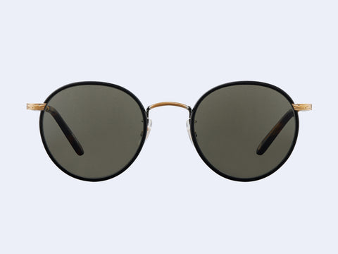 Garrett Leight Wilson Sun (Matte Black - Matte Spotted Tortoise with Pure Grey Glass)