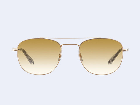 Garrett Leight Club House Sun (Gold-Crystal with Semi-Flat Cappuccino Gradient Lens)