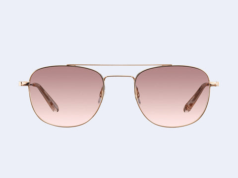 Garrett Leight Club House Sun (Rose Gold-Nude with Semi-Flat Blush Shadow Mirror Lens)