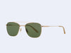 Garrett Leight Riviera Sun (Gold-Bone with Green Polar Lens)