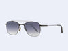 Garrett Leight Riviera Sun (Gunmetal-Grey Crystal with Grey Gradient Layered Mirror Lens)