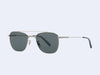 Garrett Leight Riviera Sun (Silver-Steel Blue with Blue Smoke Polar Lens)
