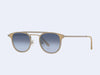 Garrett Leight Van Buren Combo Sun (Bone-Silver with Semi-Flat Navy Gradient Lens)