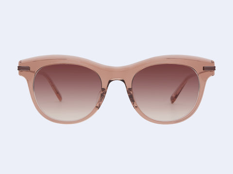 Garrett Leight Andalusia Sun (Desert Rose with Plum Gradient Lens)