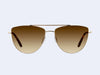 Garrett Leight Zephyr (Gold-Matte Dark Honey Tortoise with Semi-Flat Sepia Gradient Lens)