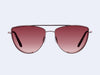 Garrett Leight Zephyr (Plum Velvet-Pink Blush with Semi-Flat Mulberry Gradient Mirror Lens)