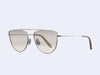 Garrett Leight Zephyr (Silver-Cashmere with Semi-Flat Dust Mirror Lens)