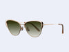Garrett Leight Vista (Gold-Cashmere with Semi-Flat Olive Gradient Lens)