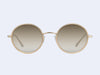 Garrett Leight Playa Sun (Blonde-Gold with Semi-Flat Sunridge Gradient Mirror Lens)