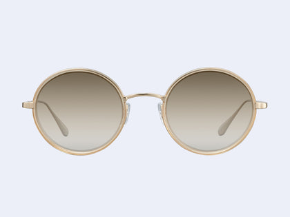 bccc4431d1e Garrett Leight Playa Sun (Blonde-Gold with Semi-Flat Sunridge Gradient  Mirror Lens