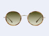 Garrett Leight Playa (Walnut Tortoise-Gold with Semi-Flat Olive Gradient Lens)