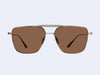 Garrett Leight Convoy (Brushed Gold-Champagne with Semi-Flat Warm Brown Lens)