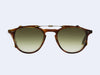 Garrett Leight Hampton Clip (Chestnut with Olive Gradient Lens)