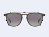 Garrett Leight Brooks Clip (Black with Silver Mirage Mirror Lens)