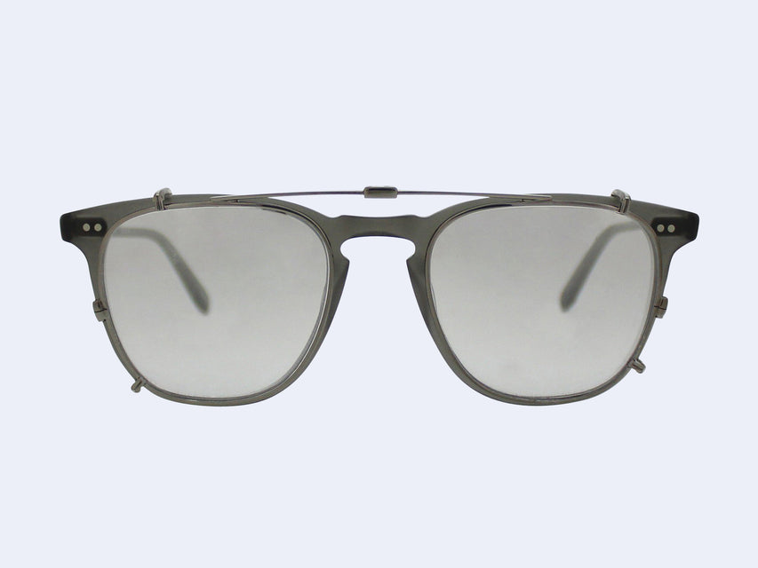 Garrett Leight Brooks Clip (Gunmetal with Silver Mirror Lens)