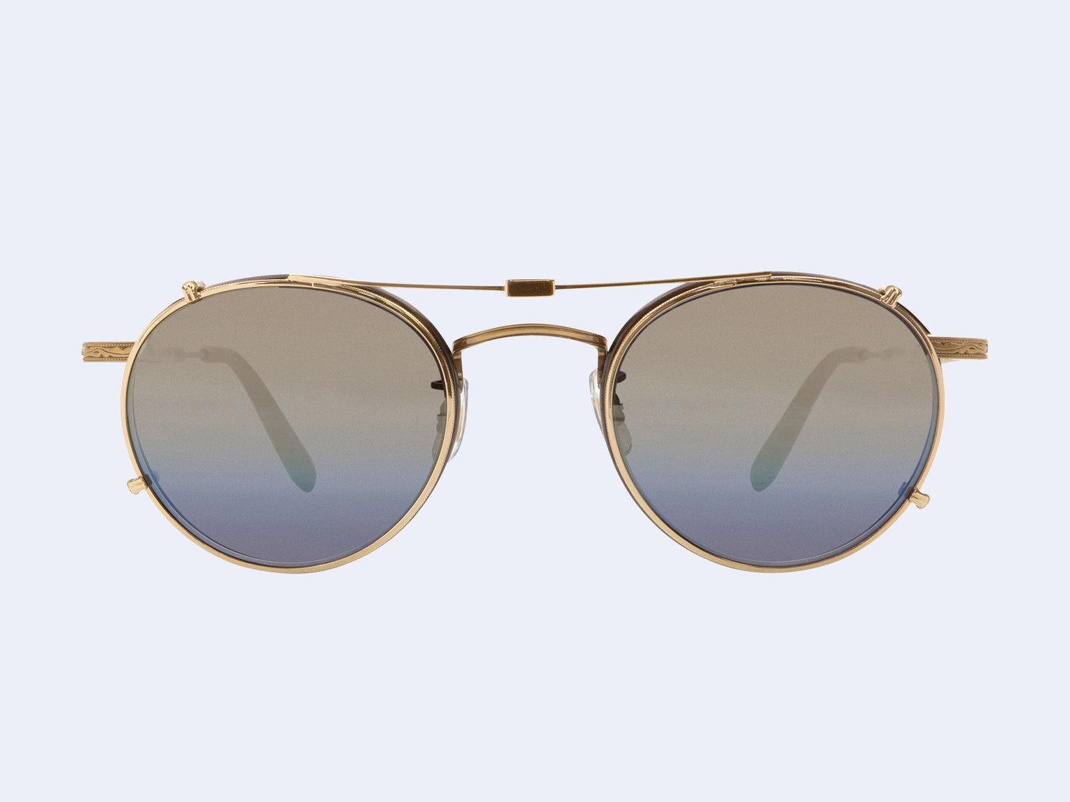 Garrett Leight Wilson Clip (Gold with Gold Mirage Mirror Lens)