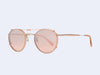 Garrett Leight Wilson Clip (Powder Beige with Blush Shadow Mirror Lens)