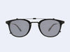 Garrett Leight Kinney Combo Clip (Matte Black with Soft Black Mirror Lens)
