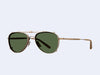 Garrett Leight Linnie Clip (Brushed Gold with Green)