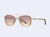 Garrett Leight Garfield Clip (Copper-Nude with Sunrise Gradient Mirror Lens)