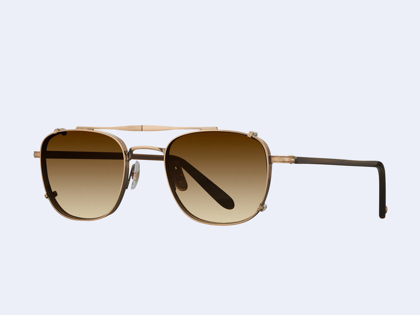 Garrett Leight Garfield Clip (Antique Gold with Sepia Gradient Lens)
