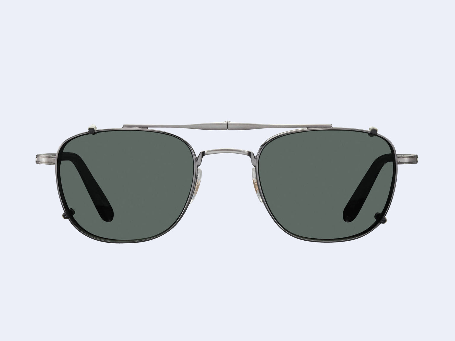 Garrett Leight Garfield Clip (Pewter with G15 Lens)