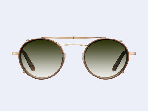 Garrett Leight Penmar Clip (Antique Gold-Honey with Olive Gradient Lens)
