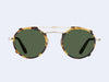 Garrett Leight Penmar Clip (Gold-Sunflower with Green Lens)