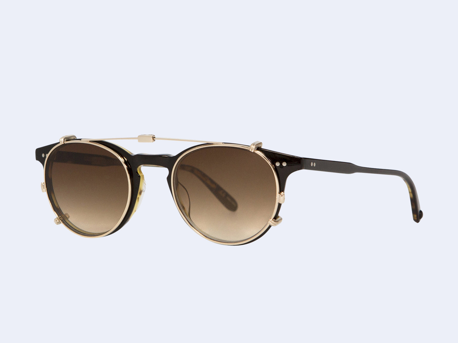 Garrett Leight Winward Clip (Gold with Sepia Gradient Lens)