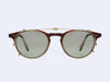 Garrett Leight Winward Clip (Matte Gold with Sage Shadow Mirror Lens)