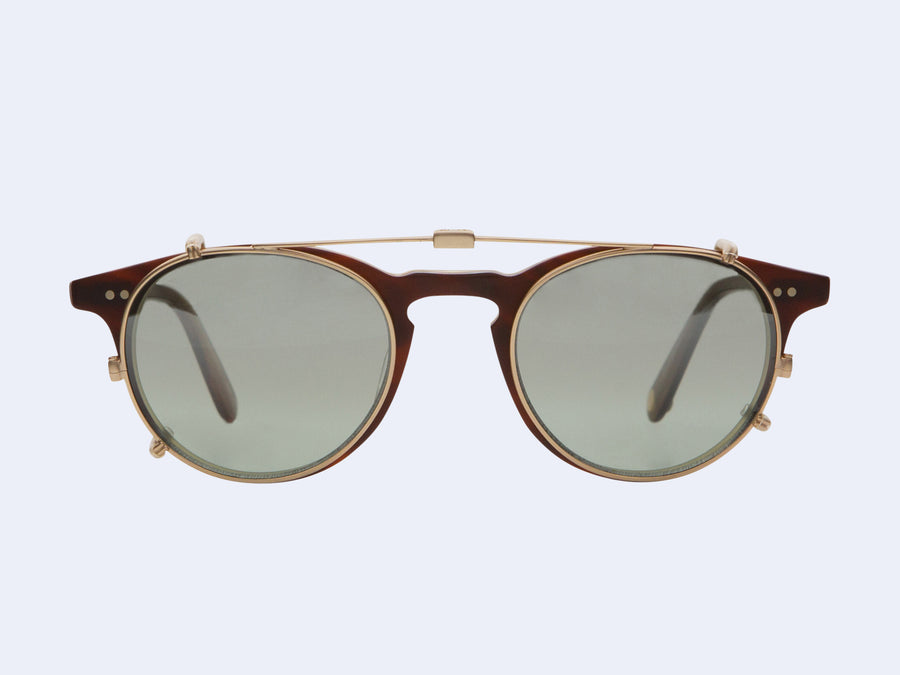 c6ac2d802c3 Garrett Leight Winward Clip (Matte Gold with Sage Shadow Mirror Lens ...