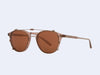 Garrett Leight Hampton Clip (Bronze with Copper Mirror Lens)