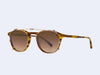 Garrett Leight Hampton Clip (Gold with Bronze Shadow Mirror Lens)