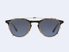 Garrett Leight Hampton Clip (Gold with Blue Shadow Mirror Lens)
