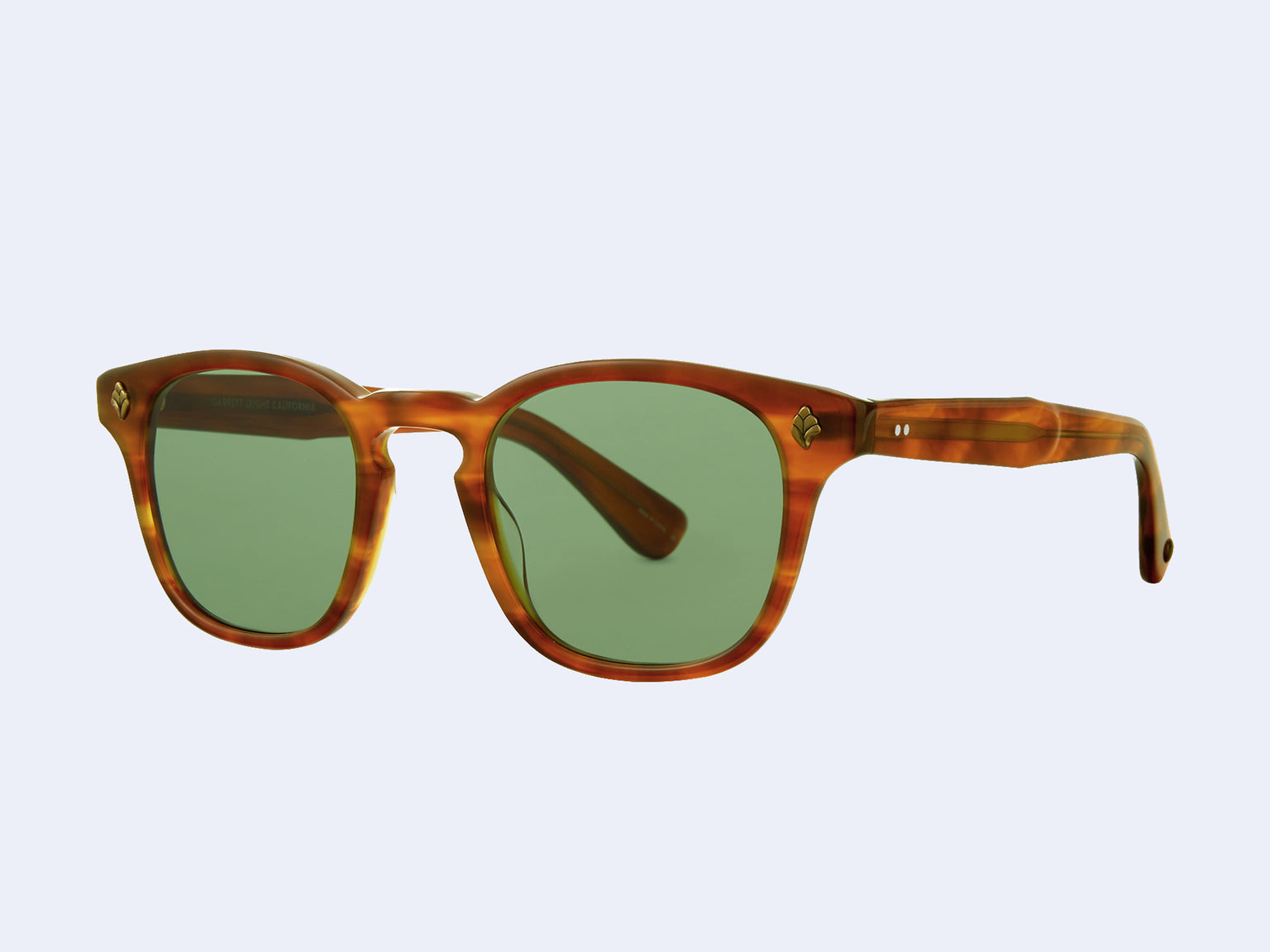 Garrett Leight Ace (Honey Amber Tortoise with Semi-Flat Pure Green Lens)