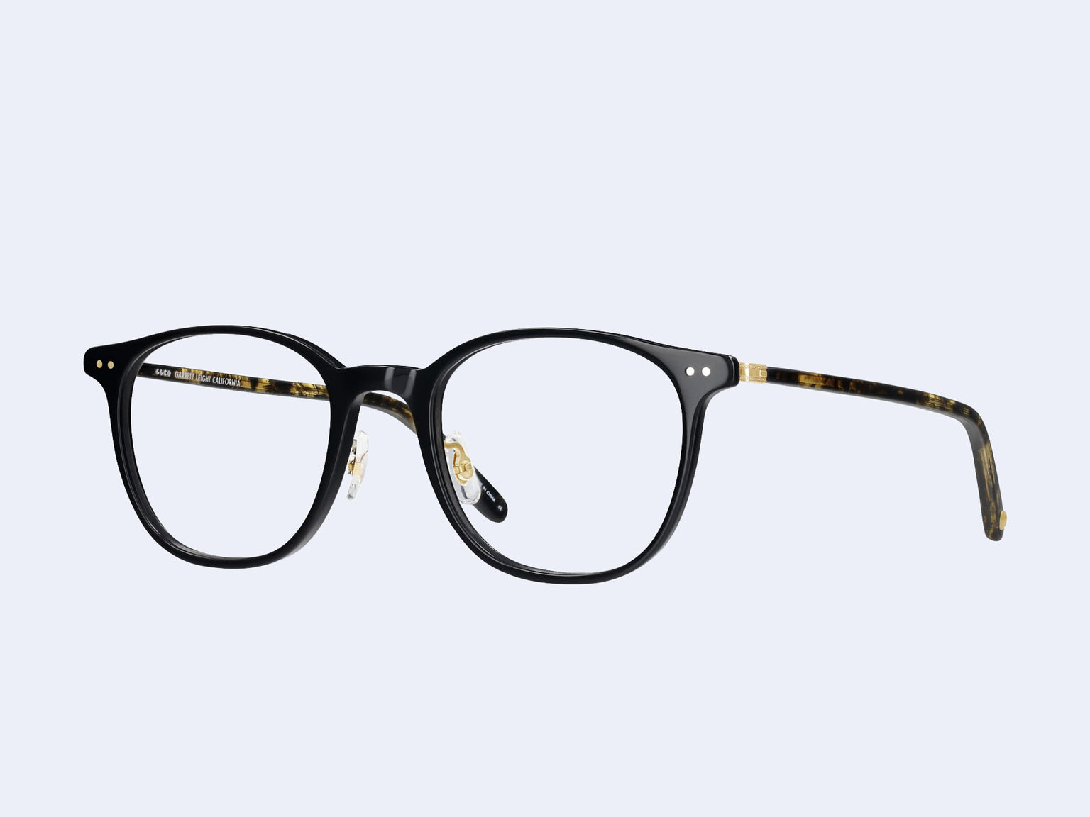 Garrett Leight Beach (Black-Black Amber-Gold)