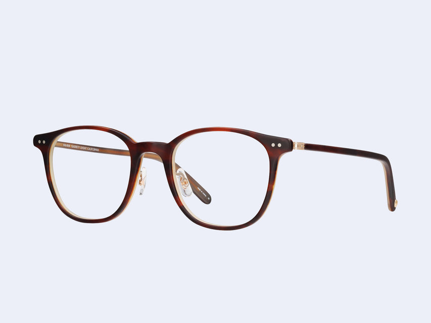 Garrett Leight Beach (Matte Whiskey Tortoise-Brushed Gold)