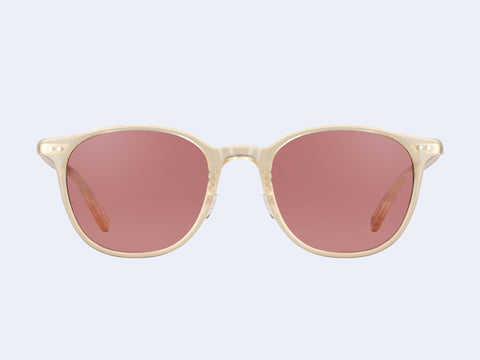 Garrett Leight Beach Sun (Blonde-Silver with Bordeaux Lens)
