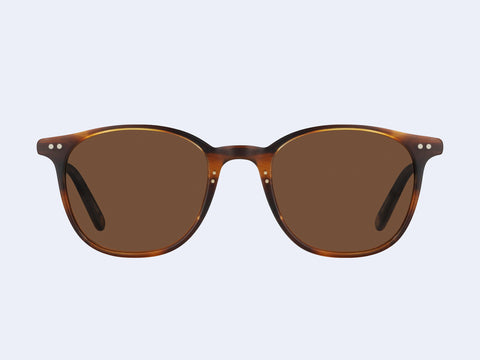 Garrett Leight Beach Sun (Mahogany Tortoise-Matte Gold with Oak Lens)