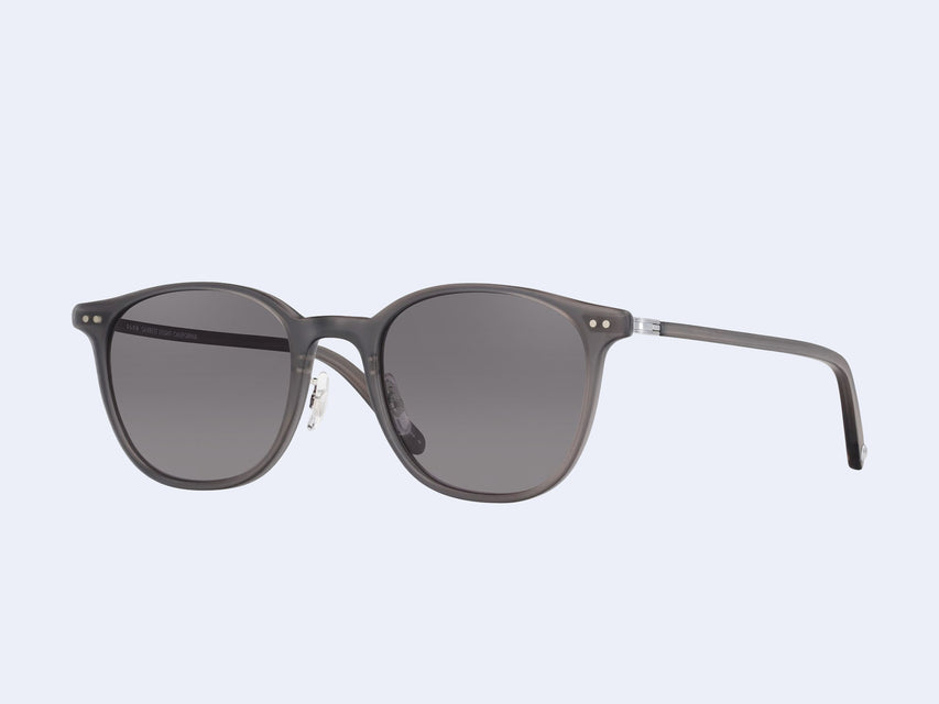 Garrett Leight Beach Sun (Matte Grey Crystal-Brushed Silver with Black Lens)