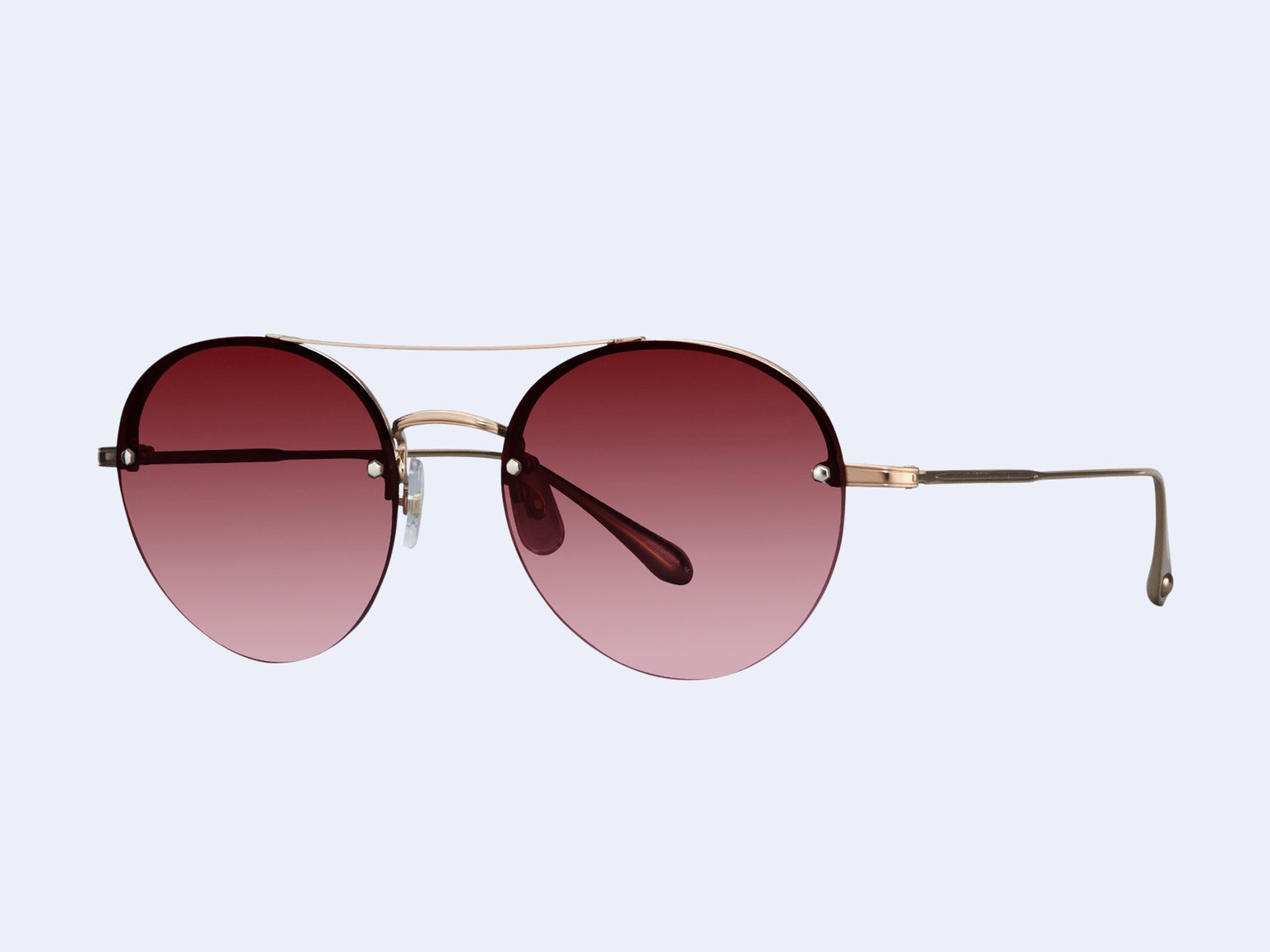Garrett Leight Beaumont (Rose Gold-Dove with Cherry Bomb Lens)